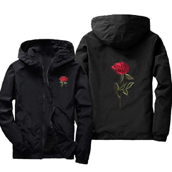 SportsX Women Rose Embroidered Hot Sale Long Sleeve Pullover Hooded Sweatshirt